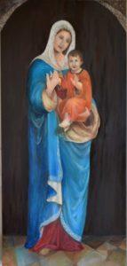 Saint Mary Holding baby Jesus