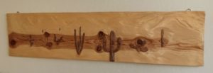 Wood carving, Arizona 11x48in, by Nabil William original artwork