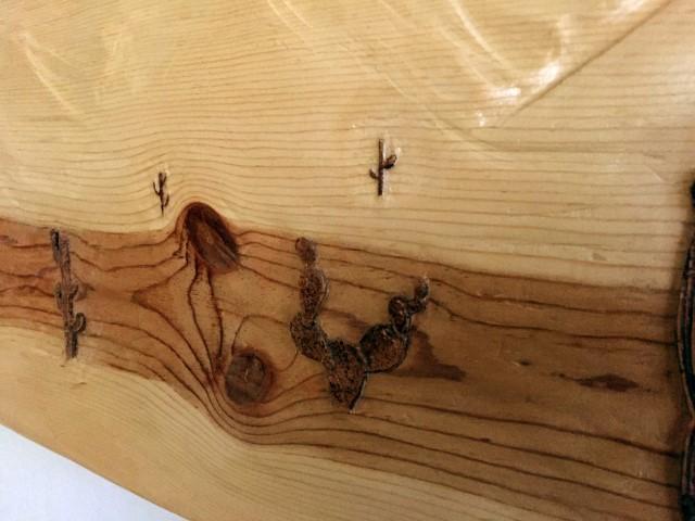 Wood carving, Arizona 11x48in, by Nabil William original artwork